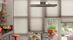 Plastic White Roman Pleated Blinds