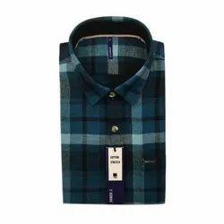 ST Germain Cotton Party Wear Check Shirt