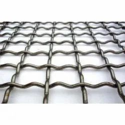 Silver GI Crimped Wire Mesh, For Fencing, Thickness: 2-4 Mm