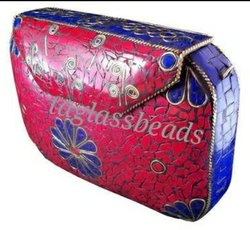 Mosaic Metal Bag  Handicrafts Stone
