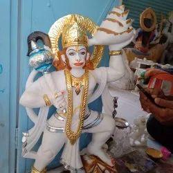Handmade Marble Hanuman Statue