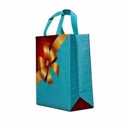 Loop Handle Printed Non Woven Gift Bag, Capacity: 5 Kg