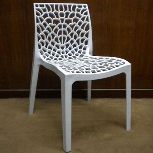 white solid plastic designer plastic chair rs 1150 piece id