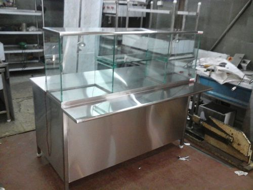 Stainless Steel Grey Pani Puri Counter Rs 36000 Unit