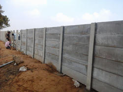Industrial Precast Boundary Wall