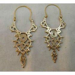 Stylish Brass Earring