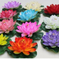 Velvet Party Artificial Lotus Flower, for Decoration, Packaging Type: Box