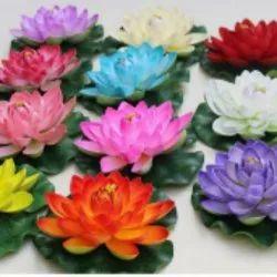 Velvet Artificial Lotus Flower, Packaging Type: Box