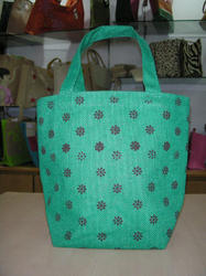 One Color Print Jute Bag