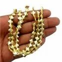 Brushed Gold Plated Copper Clover Shape Beads Strand