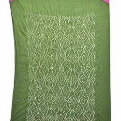 Mahendi And Magenta Color Cotton Bandhani Kurti