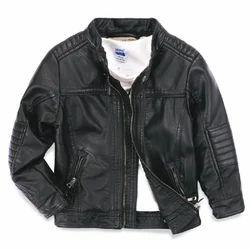 Plain Leather Kids Jacket