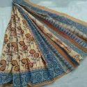 Cotton Block Printed Saree, Length: 6 M