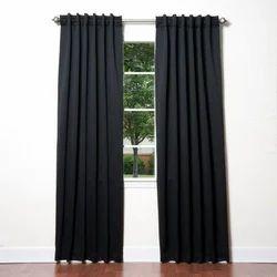 Black Cotton Window Curtains, Size: 4 X 7 Feet
