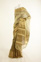 Banarsi- Kora Tissue Pure Silk Olive Green Saree With Blouse