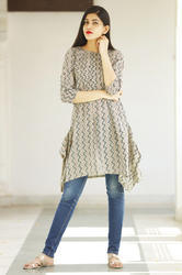 Cotton Short Kurti With Pocket