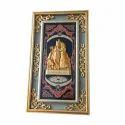 Rectangular Antique Radha Krishna Religious Frame