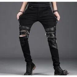Rufaro Hand Wash Mens Cotton Stretchable Black Jeans