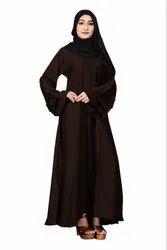 Nida Abaya Burkha With Black Beads And Chiffon Hijab For Women