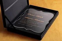 Box Invite Wedding Acrylic Invitation Card