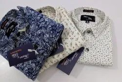 Collar Neck Printed Branded Mens Casual Cotton Shirts