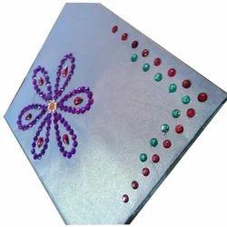 White Base Designer Handmade Envelope