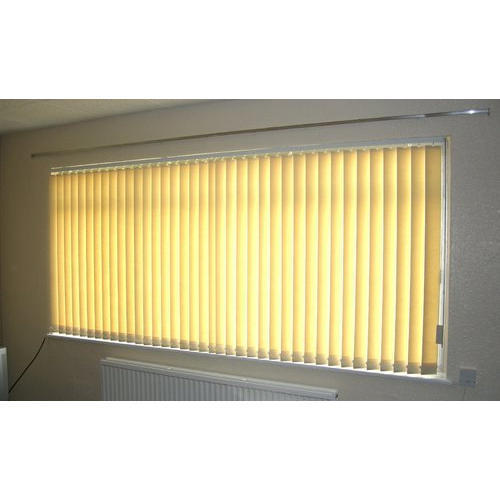 PVC Yellow Plain Window Blind