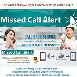 Personal Mobile Number As Missed Call Service