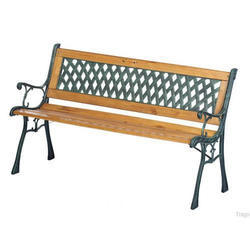 Iron Wooden Garden Bench