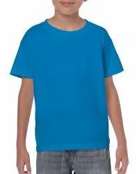 KWC Kids Plain Round Neck Sublimation Cotton T-Shirt