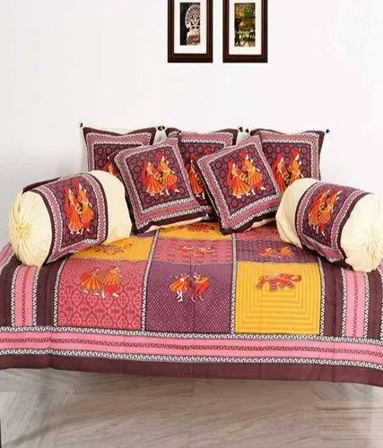 Hand Block Printed Diwan Set
