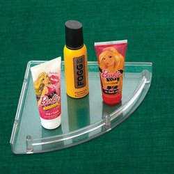 Bath Fit Transparent ABS Corner Shelf 8x8 Inch, for Bathroom