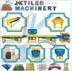 Semi Automatic Tiles Making Machine