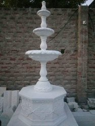 5 Feet White Marble Garden Fountain