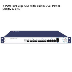 4-PON Port Giga OLT with Builtin Dual Power Supply