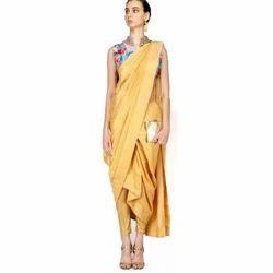 Ladies Raw Silk Designer Saree, Length: 6 m
