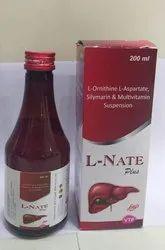 L-NATE PLUS(L-Ornithine L-Aspartate Silymarin &Multivitamin Suspension.
