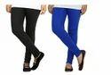 Cotton Lycra Full Length Women Slimfit Chudidar Leggings