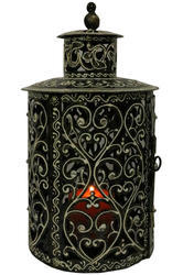 Master Crafts Multicolor Iron Hand Painted Tea Light Holder