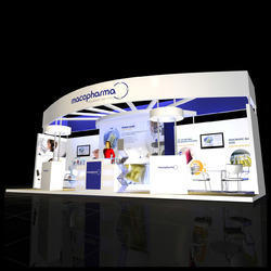 Exhibition Stall Material : Custom built stalls exhibition stall design exporter from new delhi