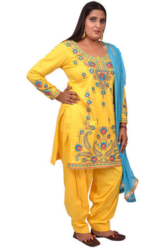 763d72f0cf Glace Cotton Yellow Designer Salwar Suit, Rs 2100 /piece, Punjabi ...