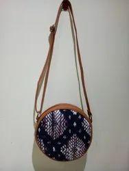 Artilea Multicolor Ikkat Round Sling Bag for Casual Wear