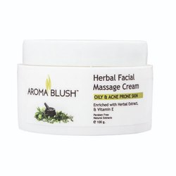 Aroma Blush Unisex Herbal Face Massage Cream for Parlour, Pack Size: 500 Gm