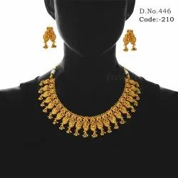 Traditional Designer Matt Necklace Set
