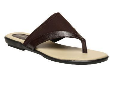 Formal Leather Bata Brown Chappals For