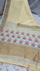 Khadi Linen Weaving Designer Sarees