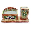 Marble Pen And Napkin Holder
