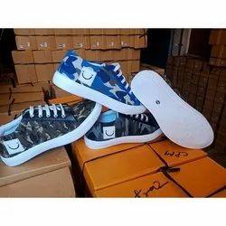Casual Wear Men Canvas Shoes, Size: 6-10