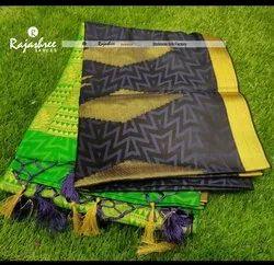 Rajshree Casual Wear Rohmbus Temple Silk Saree, 6 m (With Blouse Piece)