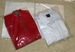 Transparent Greyish White Shirt Bags
